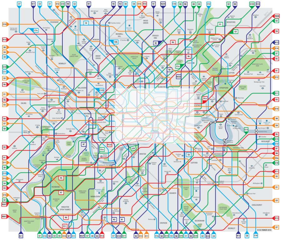 Greater London Map Pdf.Simon Parker S London Cycle Map Cycle Lifestyle